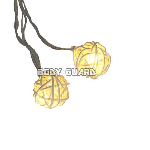 ボール型 イルミネーションライト シャンパンゴールド