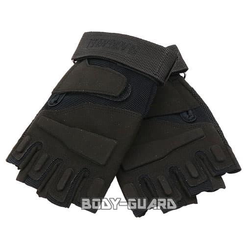 タクティカルハーフグローブ 「BLACK EAGLE」 Mサイズ ブラック