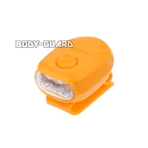MINIクリップライト 3LED オレンジ 電池式