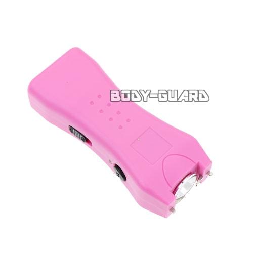 小型スタンガン パワフル 充電式 ピンク
