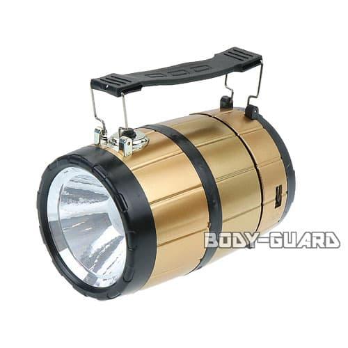 ソーラー充電式 LEDランタン 樽型