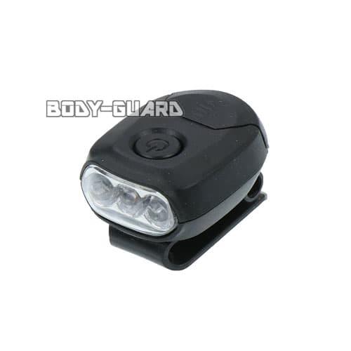 MINIクリップライト 3LED ブラック 電池式