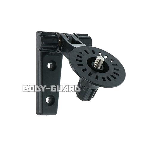 防犯カメラ用 壁面取付用ブラケット 小型 180度可動式 ブラック