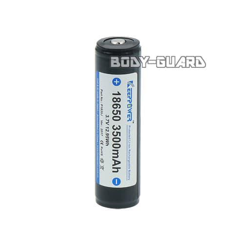 リチウムイオン充電池 18650 ブラック