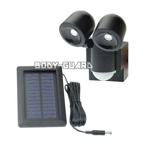 防雨 LEDセンサーライト ●2灯 ソーラー発電式 ESL-N102SL