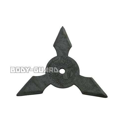手裏剣・黒いぶし M(9センチ) 三角