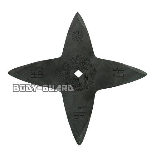 手裏剣・黒いぶし L(11センチ) 十字