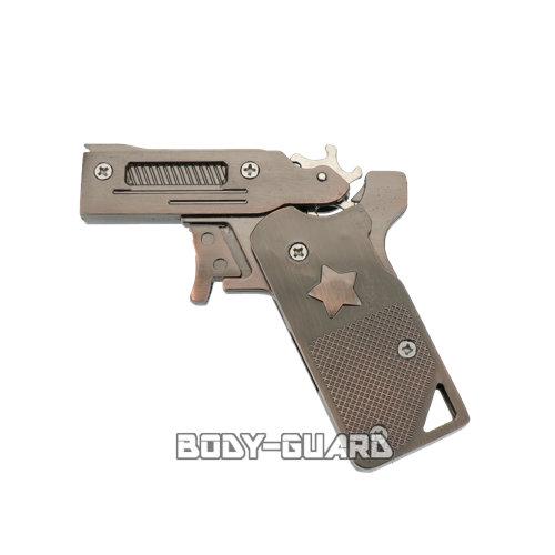 折りたたみ式 メタリック ゴム銃 ブロンズ