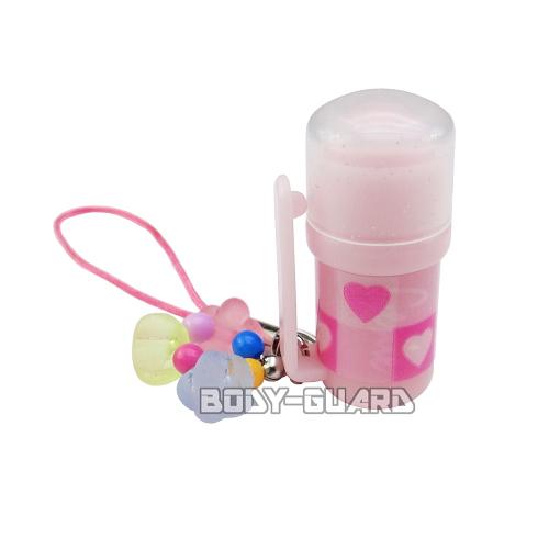 携帯ストラップ型催涙スプレー ミニボトル ピンク★商品画像