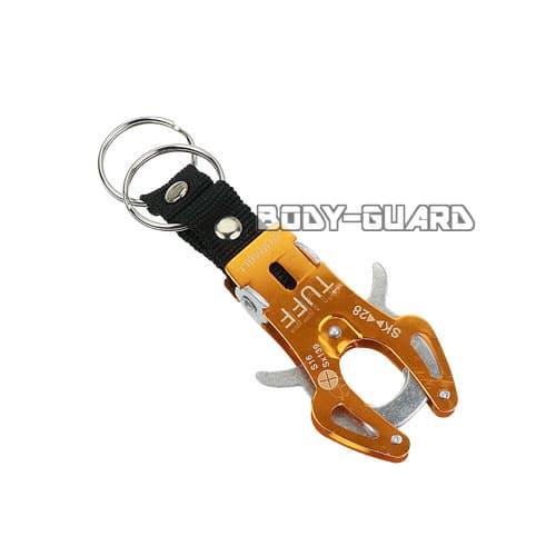 タフキーホルダー タイプ2 小 オレンジ キーリング2個