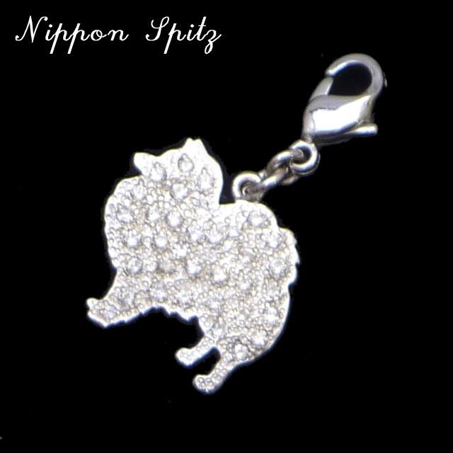 セレブドッグの犬モチーフジュエリー シルバーパヴェチャーム 日本スピッツ¥10,500(税込)