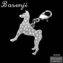 セレブドッグの犬モチーフジュエリー シルバーパヴェチャーム バセンジー¥10,500(税込)