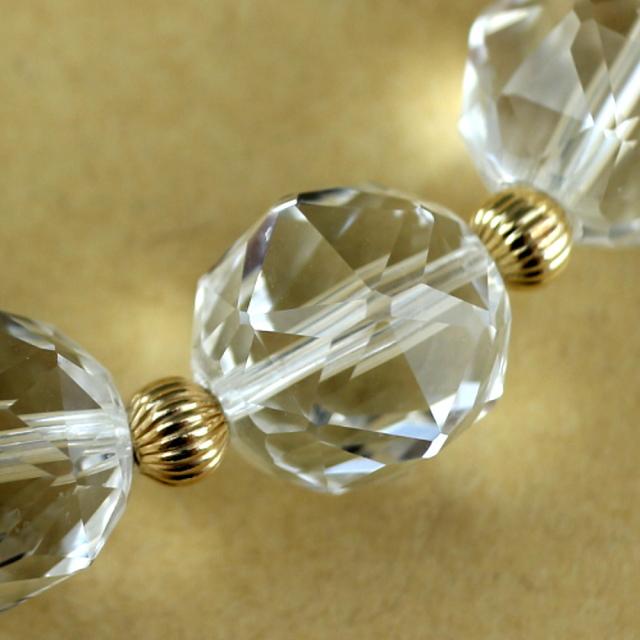 スターカット水晶のブレスレット