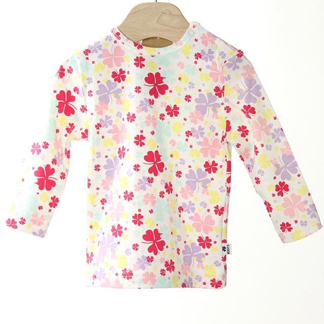 【在庫処分セール50%OFF】(春夏)HOLLY'S(ホリーズ)  Baby T-shirt L/S 長袖Tシャツ ピンク 68cm/6M 【おまかせ配送で送料お得】