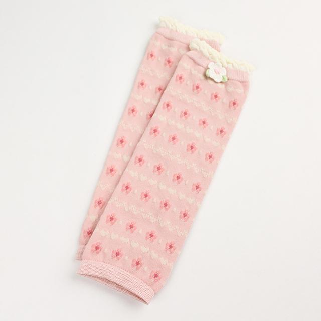 Souris(スーリー) 総柄レッグウォーマー ピンク フリーサイズ 【おまかせ配送で送料お得】◆