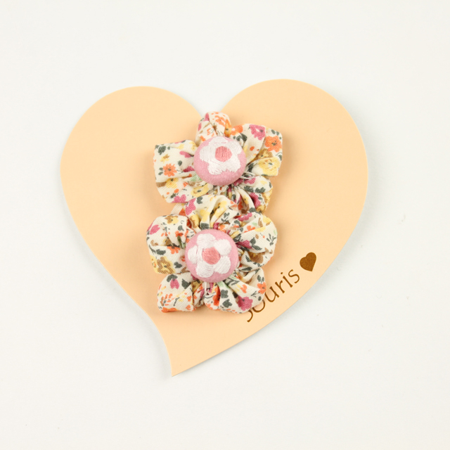 Souris(スーリー) 花柄フラワーマジックポニー2個セット オレンジ FREE     【おまかせ配送で送料お得】◆