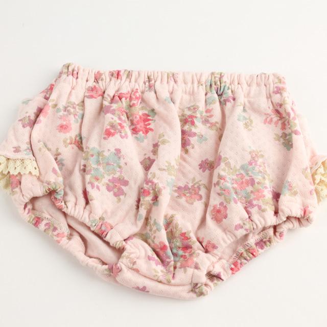 【セール30%OFF】Souris(スーリー) お花×フリルレースブルマ ピンク Free(50-70cm)     【おまかせ配送で送料お得】