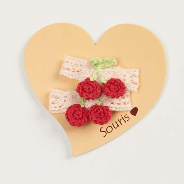 Souris(スーリー) リボンチェリーマジックポニー ピンク×赤チェリー Free     【おまかせ配送で送料お得】◆