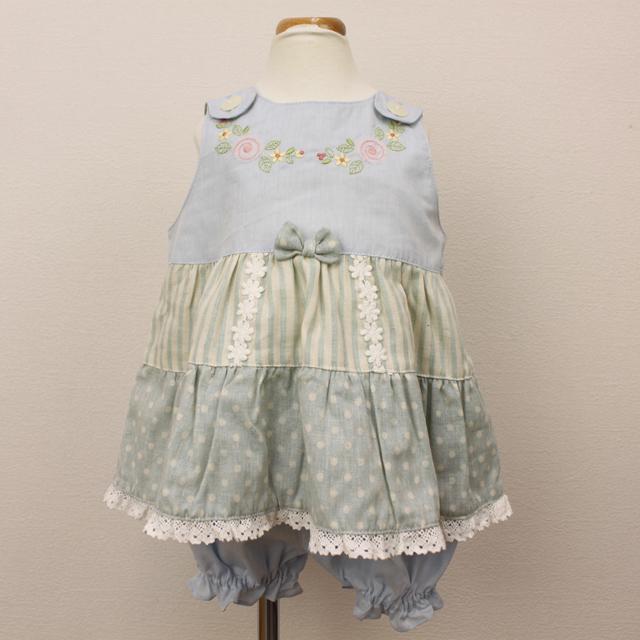 【セール15%OFF】Souris(スーリー) ドットミルキースーツ ブルー 80cm   90cm