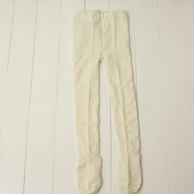 【セール10%OFF】Souris(スーリー) タイツ アイボリー 105cm 120cm 135cm