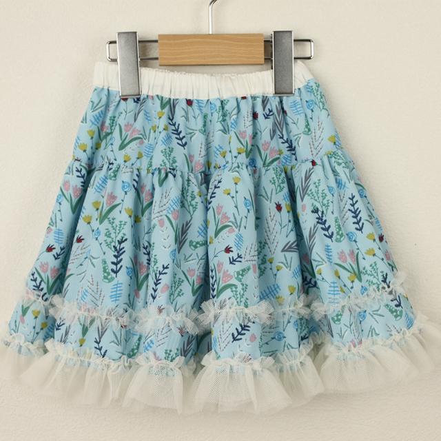 【セール10%OFF】Souris(スーリー) リバーシブルスカート ブルー 100cm 110cm 120cm 130cm 140cm