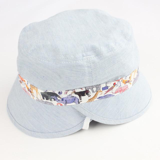 【セール10%OFF】Sense of Wonder(センスオブワンダー) QueuefortheZooリバーシブル帽 ブルー 48cm 52cm    【おまかせ配送で送料お得】