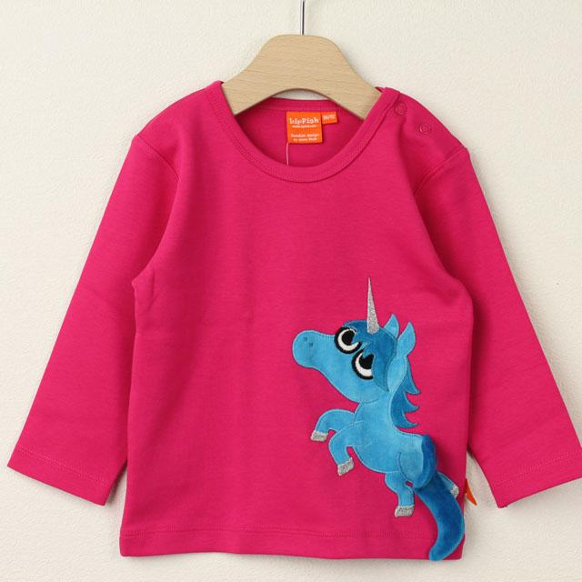 【在庫処分セール50%OFF】(秋冬)LIPFISH (リップフィッシュ) ユニコーン長袖Tシャツ Cerise Unicorn ピンク 86cm-92cm 98cm    【おまかせ配送で送料お得】