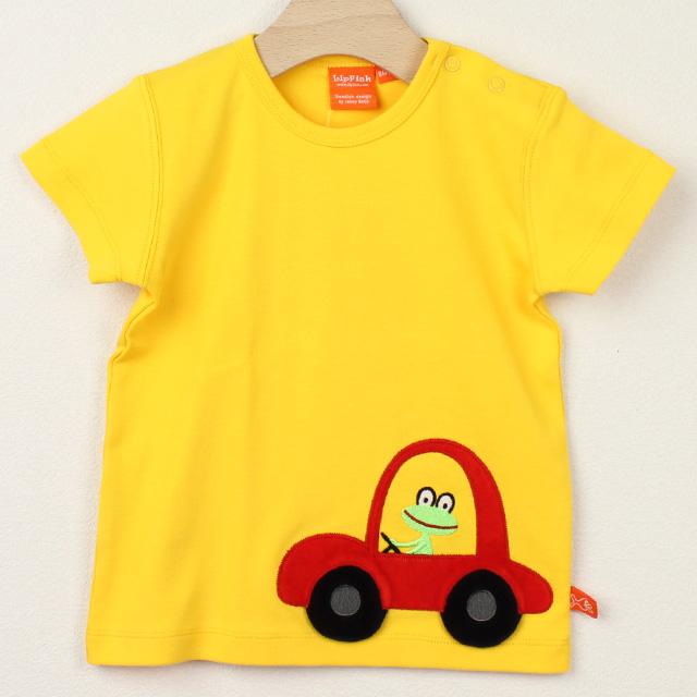 【セール30%OFF】LIPFISH (リップフィッシュ) Yellow Car 半袖Tシャツ 車 きいろ 86cm-92cm 98cm    【おまかせ配送で送料お得】
