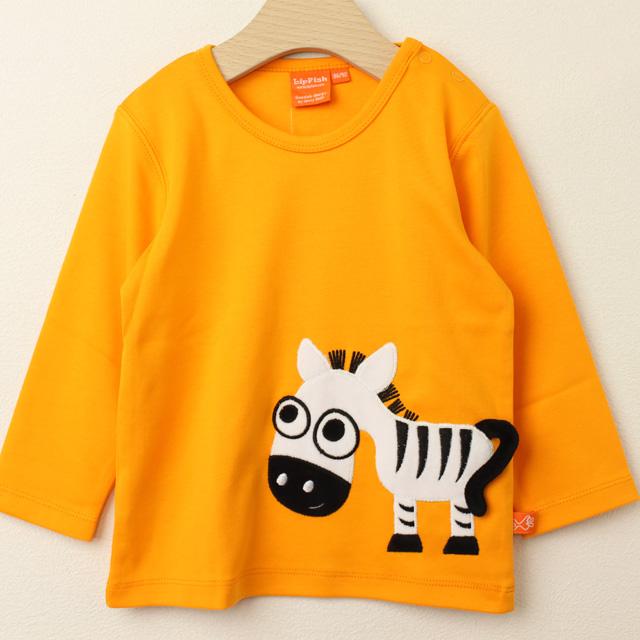 【セール30%OFF】LIPFISH (リップフィッシュ) Orange Zebra 長袖Tシャツ しまうま オレンジ 86cm-92cm 98cm 【おまかせ配送で送料お得】