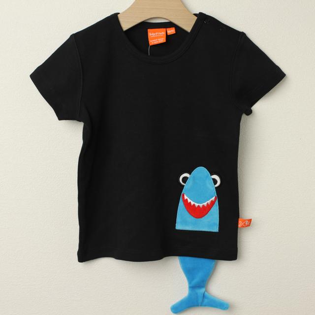 【セール30%OFF】LIPFISH (リップフィッシュ) shark 半袖Tシャツ ブラック 86cm-92cm 98cm    【おまかせ配送で送料お得】