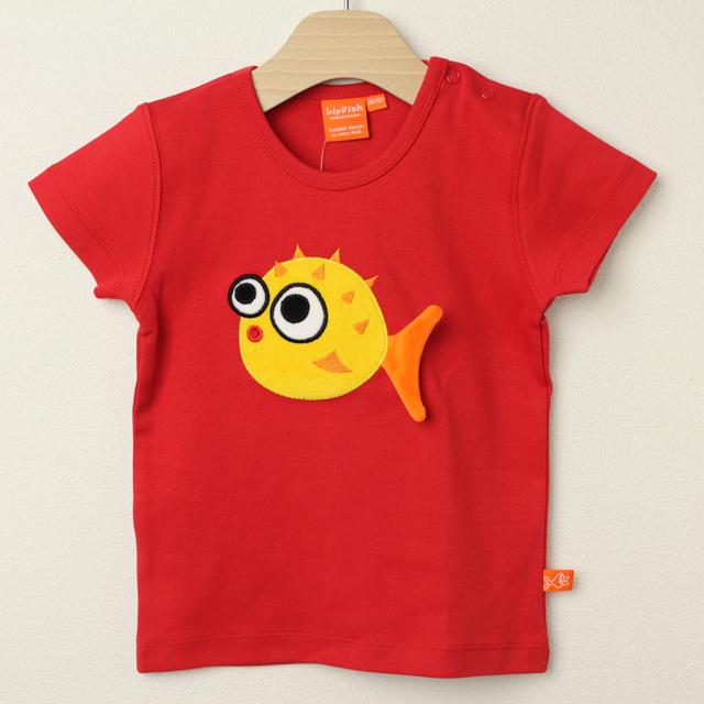 【セール30%OFF】LIPFISH (リップフィッシュ) blow fish半袖Tシャツ レッド 86cm-92cm 98cm    【おまかせ配送で送料お得】