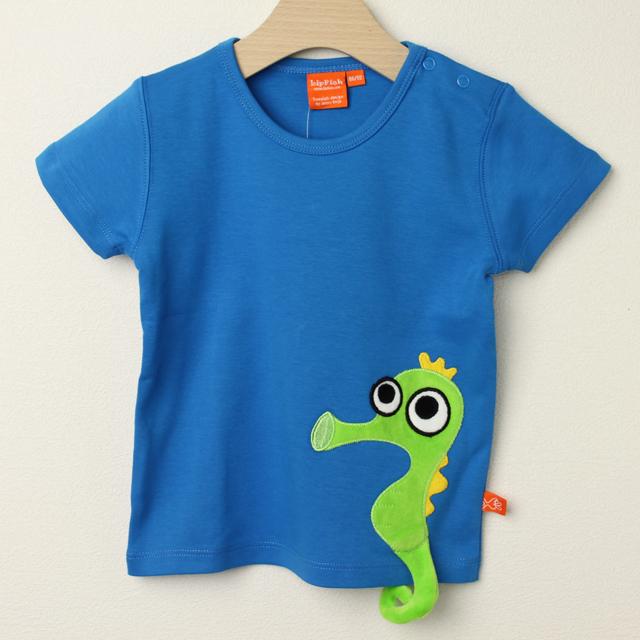 【セール30%OFF】LIPFISH (リップフィッシュ) seahorce半袖Tシャツ ブルー 86cm-92cm 98cm    【おまかせ配送で送料お得】