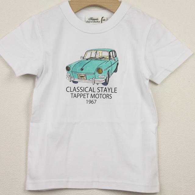 【セール20%OFF】TAPPET(タペット) ワーゲンTシャツ オフ白 100cm     【おまかせ配送で送料お得】