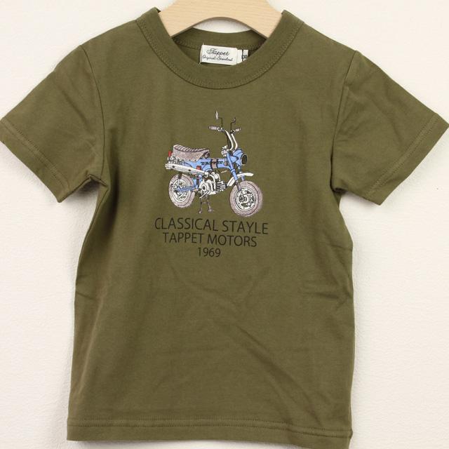 【セール20%OFF】TAPPET(タペット) ダックスTシャツ カーキ 100cm     【おまかせ配送で送料お得】