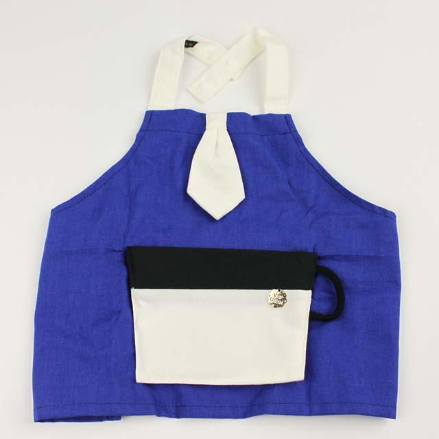 【在庫処分セール50%OFF】(春夏)WHIP CREAM(ホイップクリーム) ポケッタブルカップエプロン ブルー Baby(70cm-90cm)