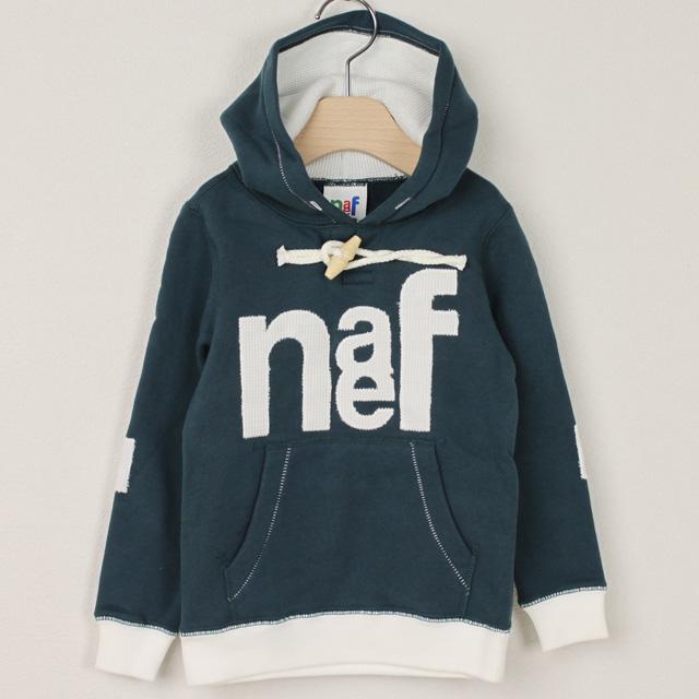 【在庫処分セール50%OFF】naef(ネフ) 長袖パーカー Waffle デニムブルー 95cm 105cm 115cm