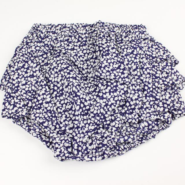 mimi poupons.(ミミプポン) フリルパンツ リバティ グレンジェイド ブルー 70cm-90cm      【おまかせ配送で送料お得】◆