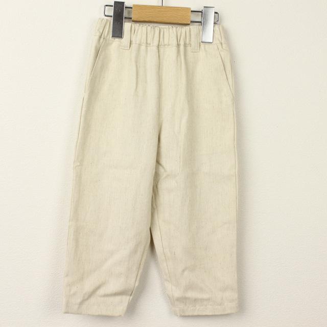 【セール20%OFF】mimi poupons.(ミミプポン) くるぶし丈デニムパンツ きなり 4才 6才
