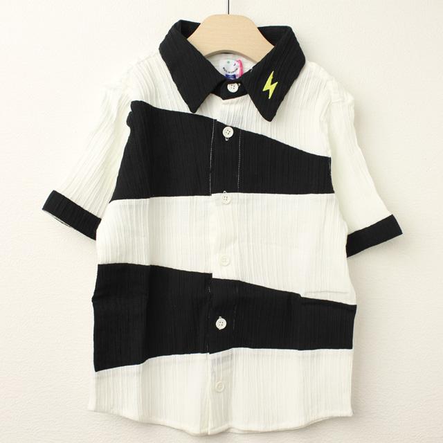 【在庫処分セール50%OFF】(春夏)MoL(モル) オニのシャツ イナズマイエロー オフ白 100cm 110cm