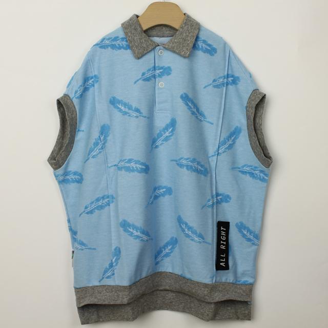 【セール20%OFF】(春夏)MoL(モル) フェザリーパイルポロ ブルー 110cm 120cm