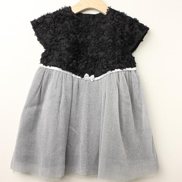 【セール20%OFF】Bizzu(ビズー) お花いっぱいのラメチュールドレス ブラック 110cm 120cm