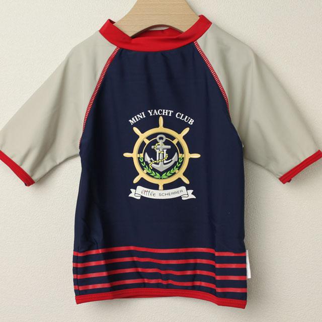 【在庫処分セール50%OFF】(春夏)Elly la Fripouille(エリーラフリップイユ) UVカット ラッシュガード T-shirt Mini Yacht Club ネイビー 3才-4才 4才-5才    【おまかせ配送で送料お得】