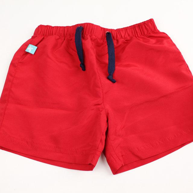 【在庫処分セール50%OFF】(春夏)Elly la Fripouille(エリーラフリップイユ) UVカット ショートパンツ型水着 Boy Swim Short Deauville レッド 2才-3才 3才-4才 4才-5才   【おまかせ配送で送料お得】