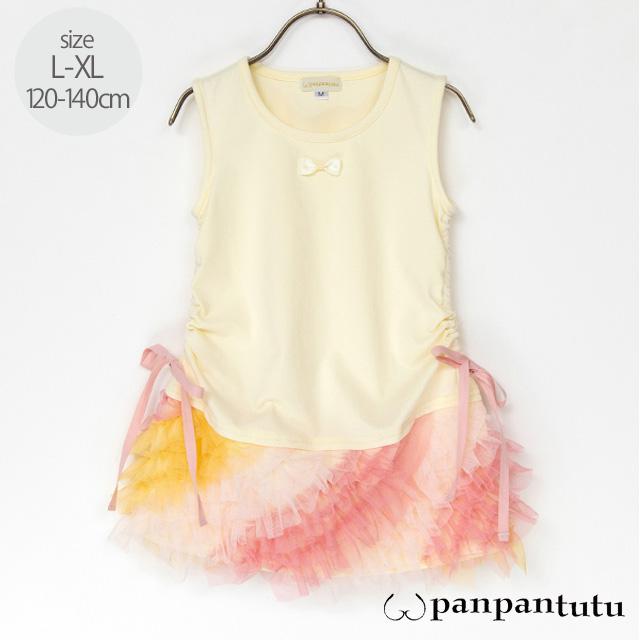 【2021年春夏新作】panpantutu(パンパンチュチュ) ミルフィーユワンピース L(120-130cm) XL(130-140cm)