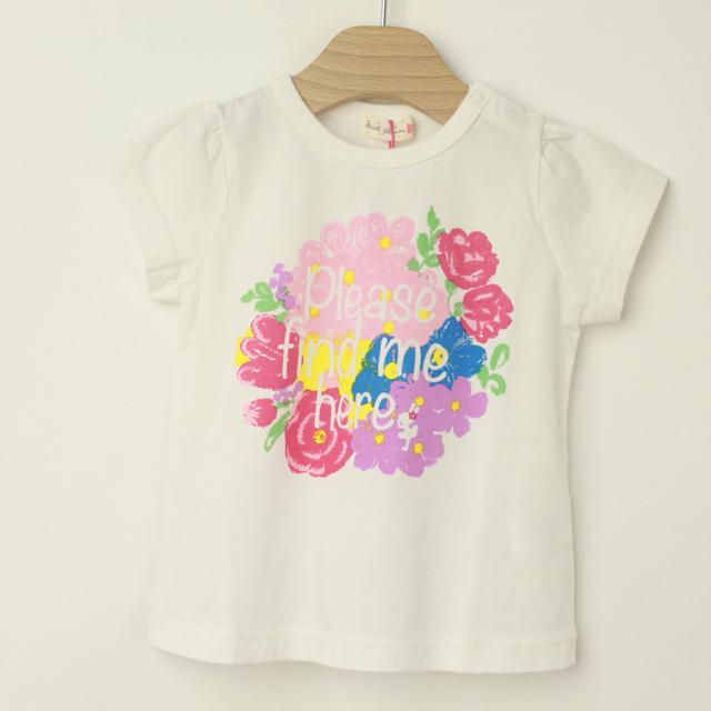 【2019年春夏新作】KP(ニットプランナー)  虫よけ花柄Tシャツ ピンク 80 90    【おまかせ配送で送料お得】