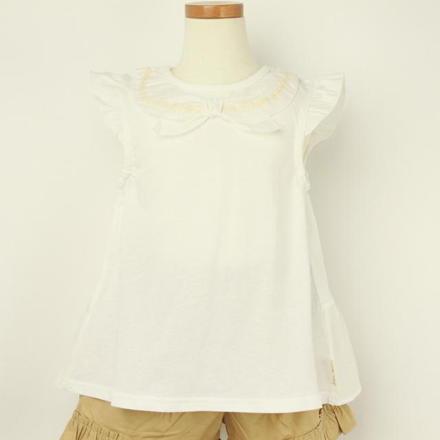 【2019年春夏新作】Lily ivory(リリイアイボリー) 天竺半袖Tシャツ オフホワイト 110cm 120cm 130cm