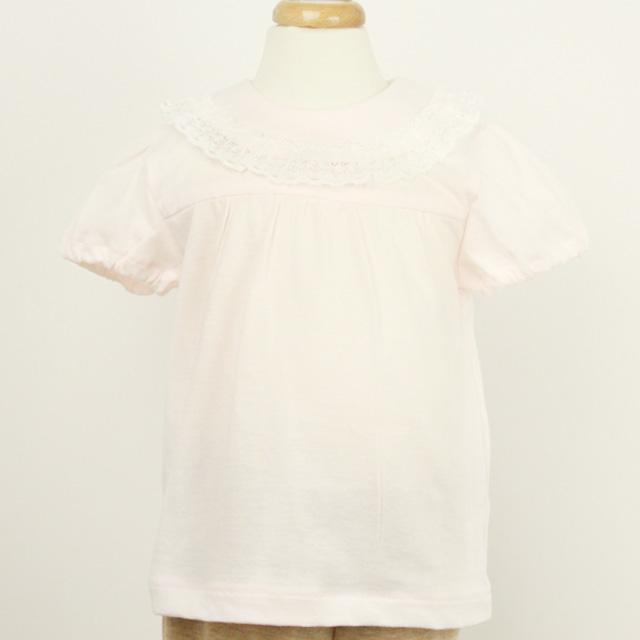【セール30%OFF】(春夏)Pample Mousse(パンプル ムース) 半袖ブラウス ピンク 80cm 90cm 95cm