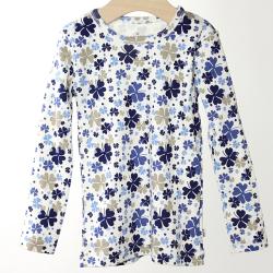 【在庫処分セール50%OFF】(春夏)HOLLY'S(ホリーズ)  Junior T-shirts L/S 長袖Tシャツ ブルー 98cm/2-3才 【おまかせ配送で送料お得】