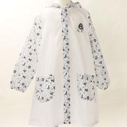 【セール20%OFF】After the rain(アフターザレイン)  レインコート Toy's  白×チャコール S(80cm-90cm) M(90cm-100cm)