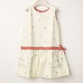 【在庫処分セール60%OFF】POPPY(ポピー) ジャンバスカート Emily  白 4才-5才【送料無料】